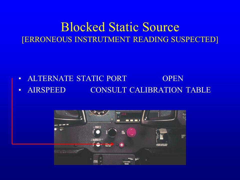 Blocked Static Source [ERRONEOUS INSTRUTMENT READING SUSPECTED]